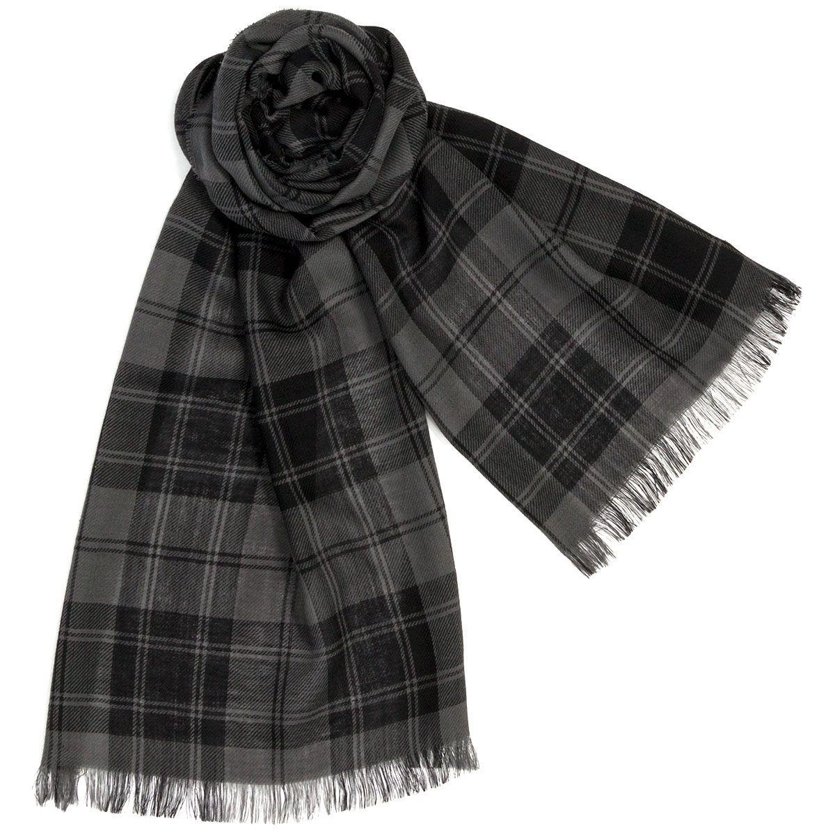 Douglas Grey Modern Fine Wool Scarf/Stole