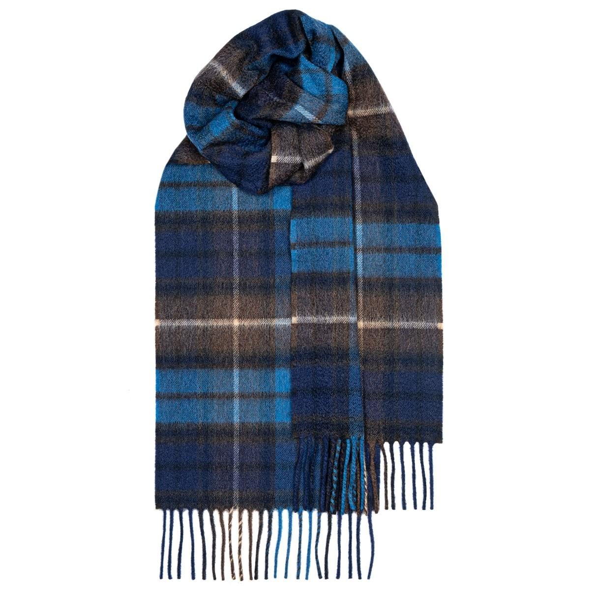 Beau Buchanan Blue Tartan Luxury Cashmere Scarf