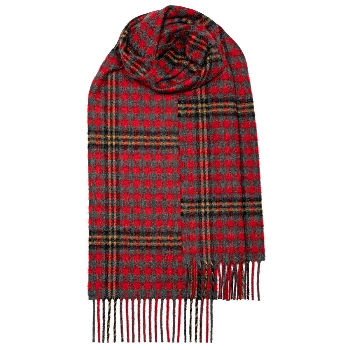 Red Red Rose Tartan Luxury Cashmere Scarf