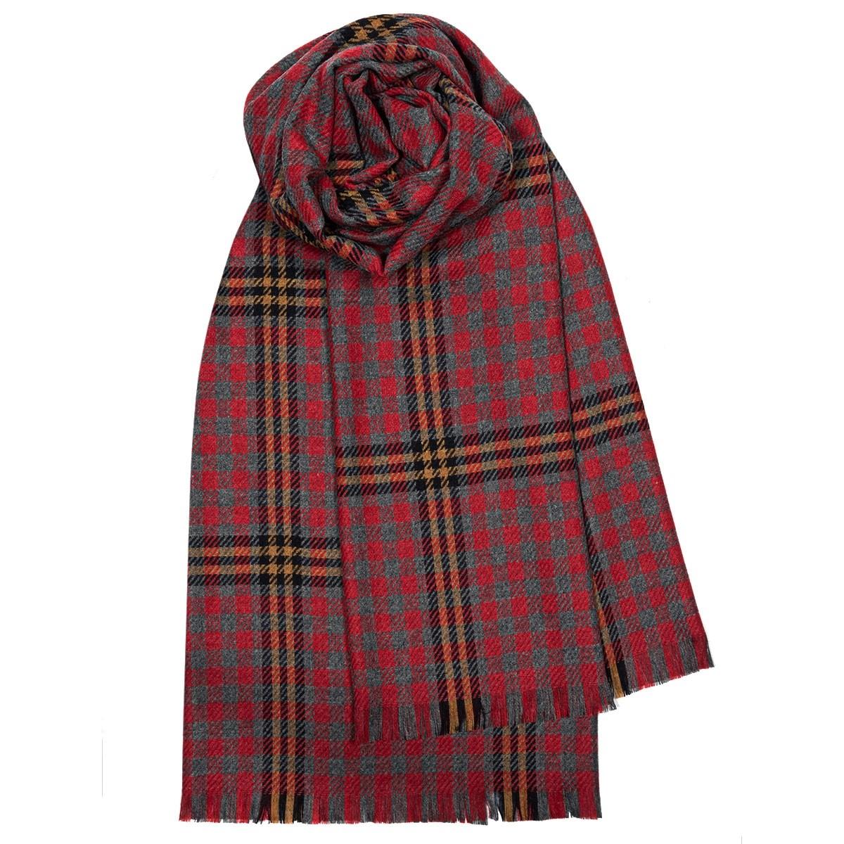 Red Red Rose Tartan Luxury Fine Wool Stole
