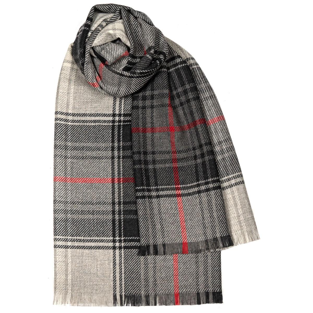 Brock Lochcarron Graphite Luxury Fine Wool Stole