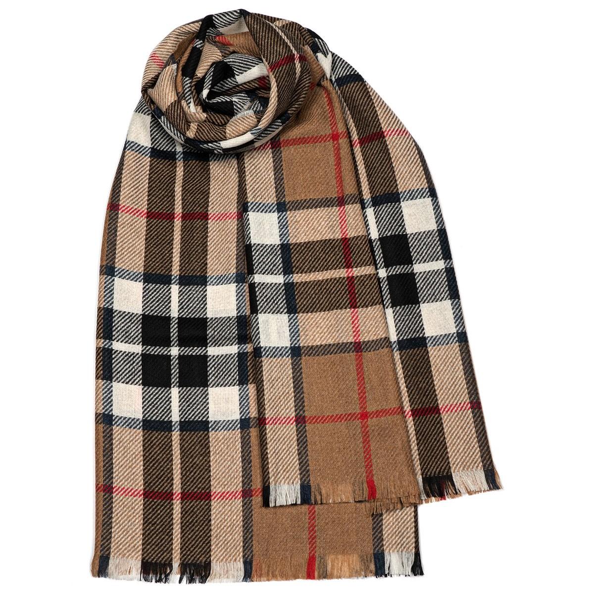 Brock Thomson Camel Modern Luxury Fine Wool Stole