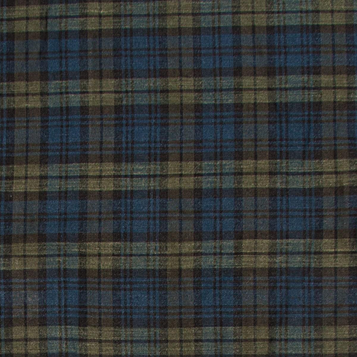 Black Watch Modern Tartan Lightweight Linen Fabric