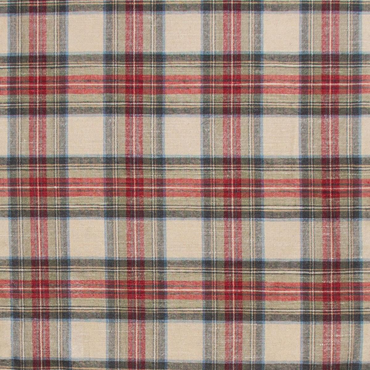 Stewart Dress Weathered Tartan Lightweight Linen Fabric