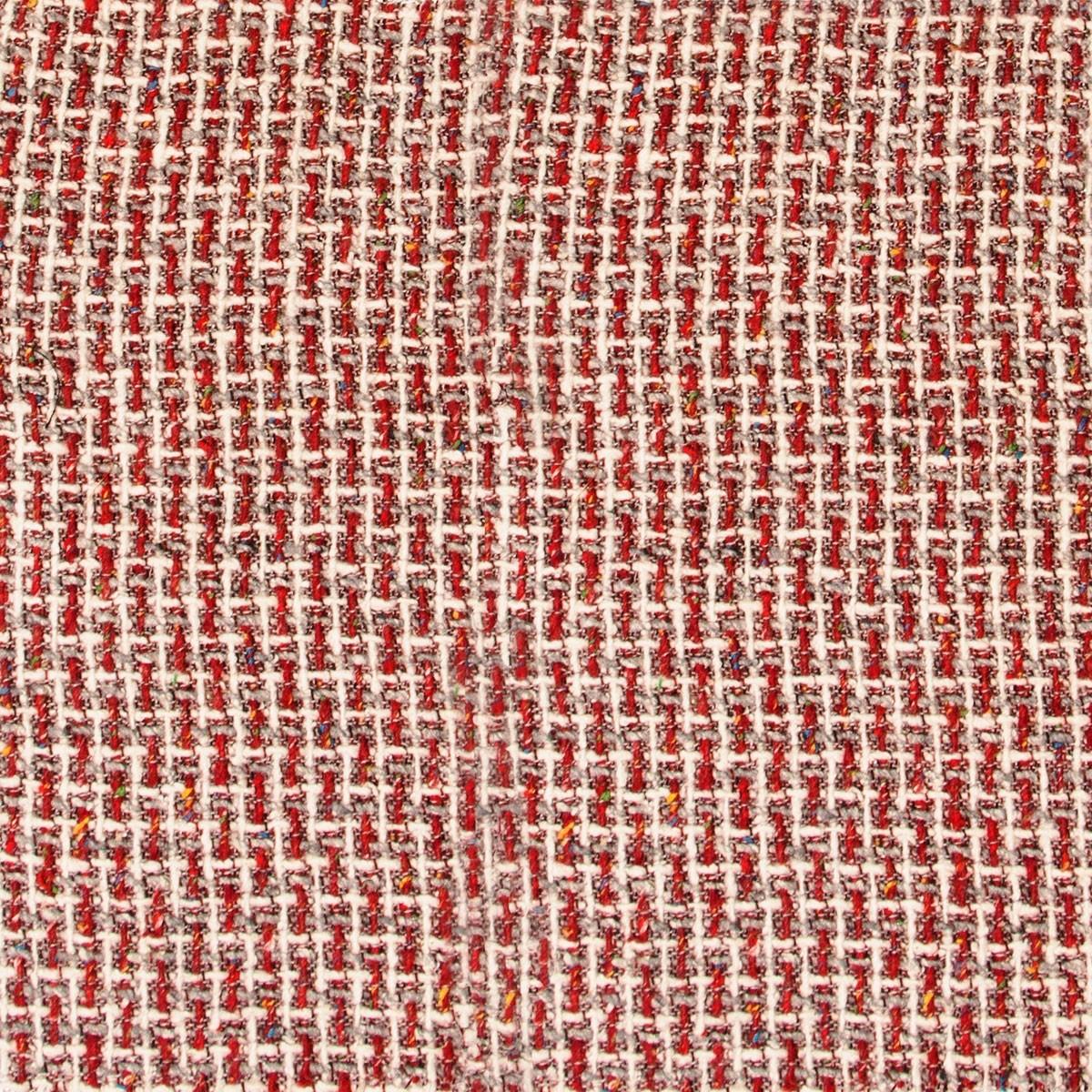 Red/White/Grey Wool Jacketing Fabric