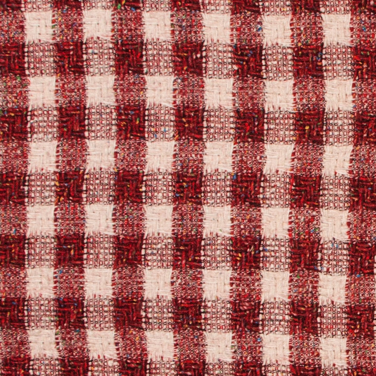 Rosso Square Jacketing Wool Fabric