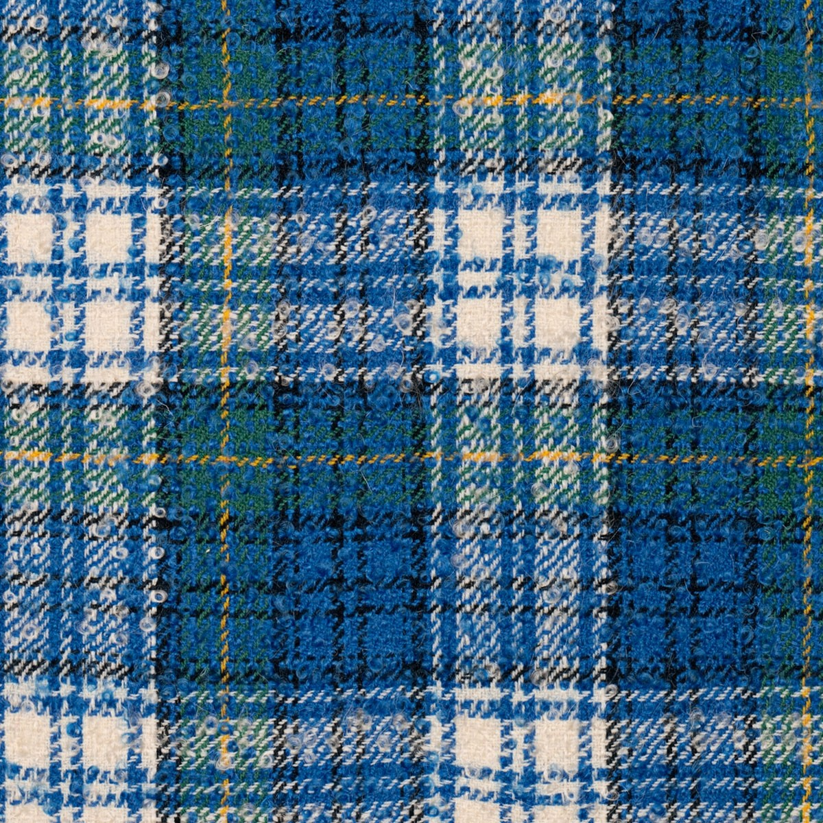 Gordon Dress Royal Wool Mohair Loop Tweed Fabric