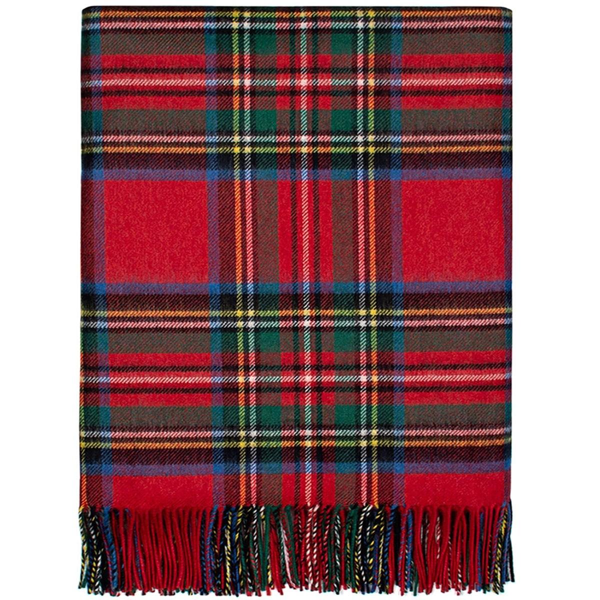 Luxury Stewart Royal Modern Cashmere Blanket