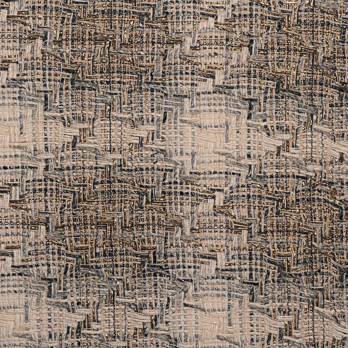 Natural and Gold Sparkle Tweed Fabric