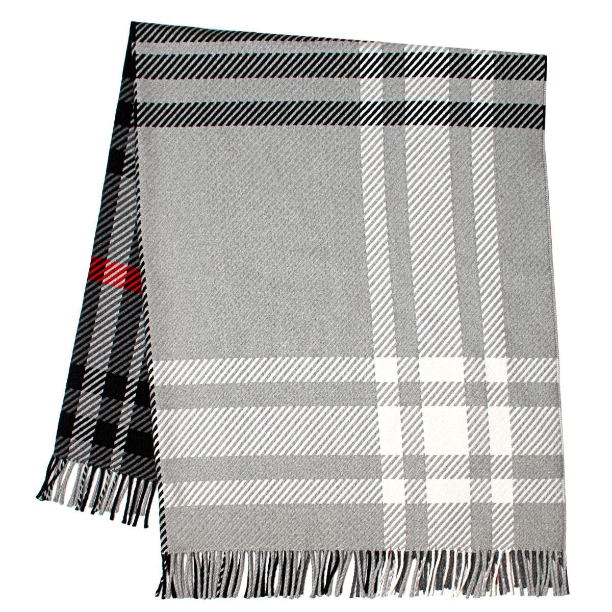 Darcy Lochcarron Graphite Tartan Luxury Superfine Wool Throw