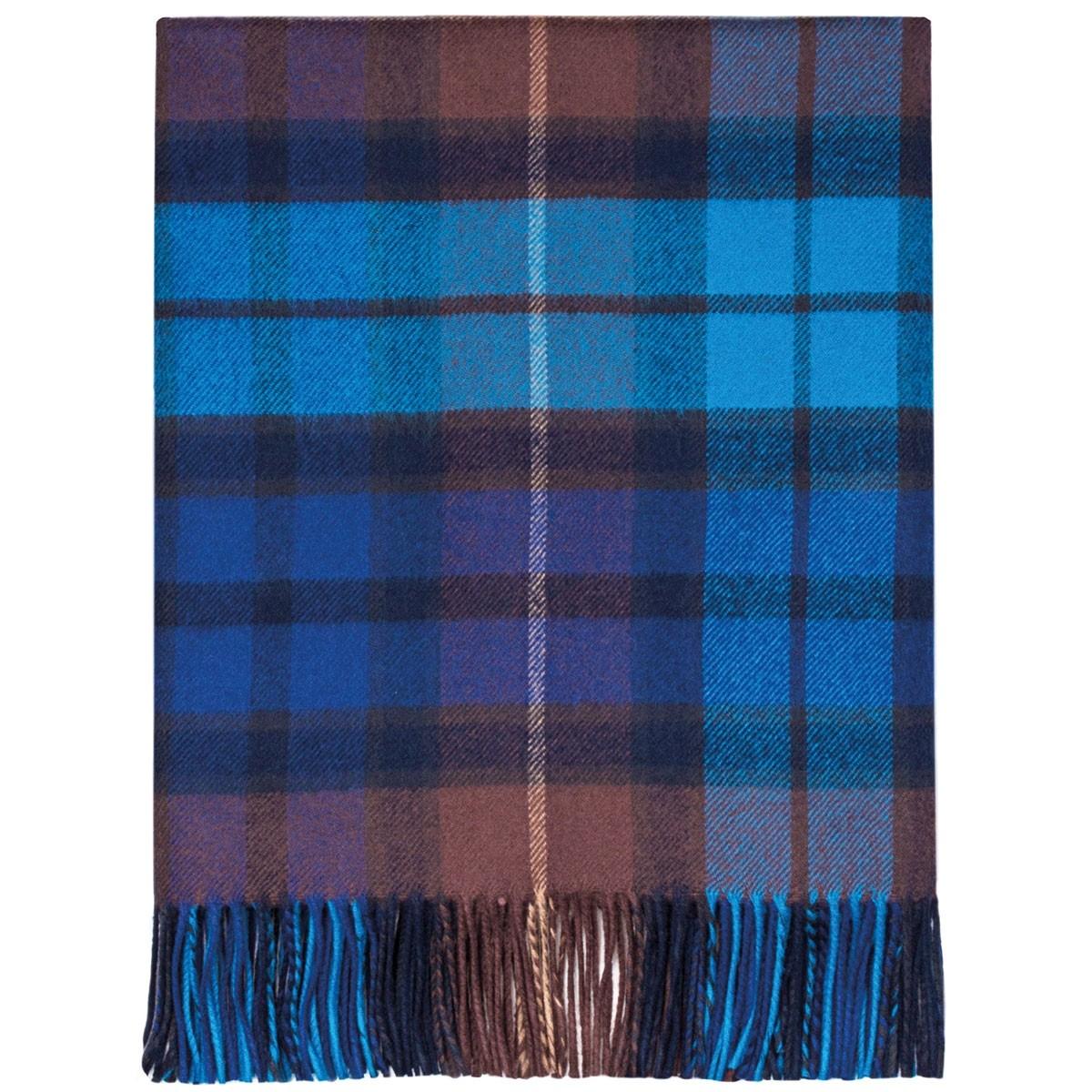 Buchanan Blue Tartan Lambswool Blanket