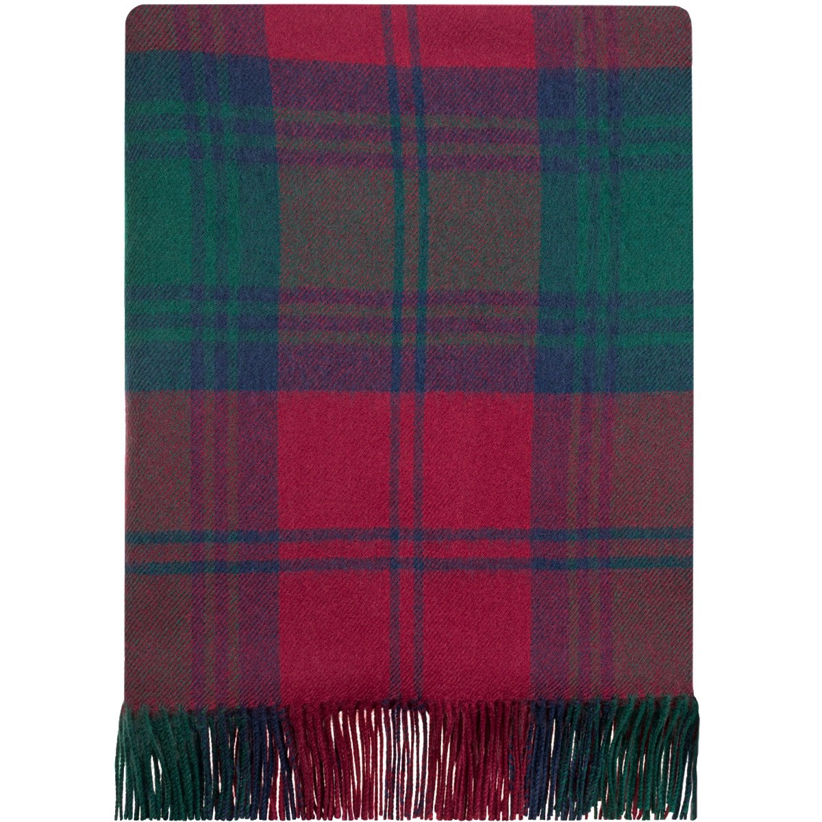 Lindsay Modern Tartan Lambswool Blanket