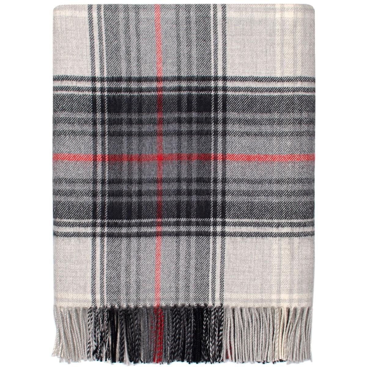 Lochcarron Graphite Tartan Lambswool Blanket