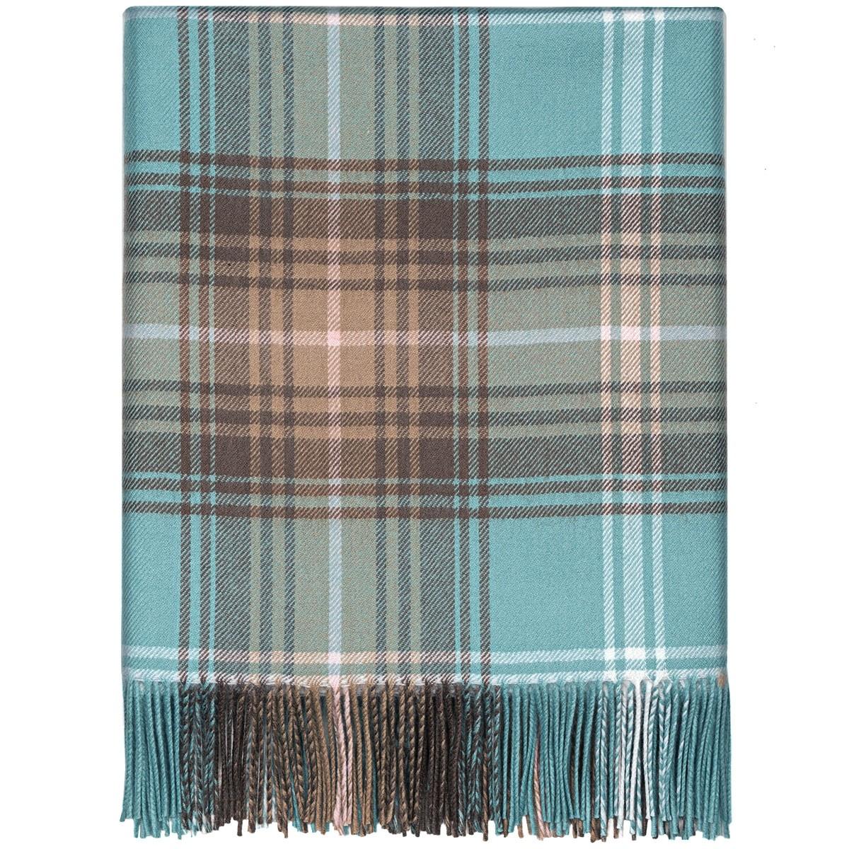 Lochcarron Opal Tartan Lambwool Blanket
