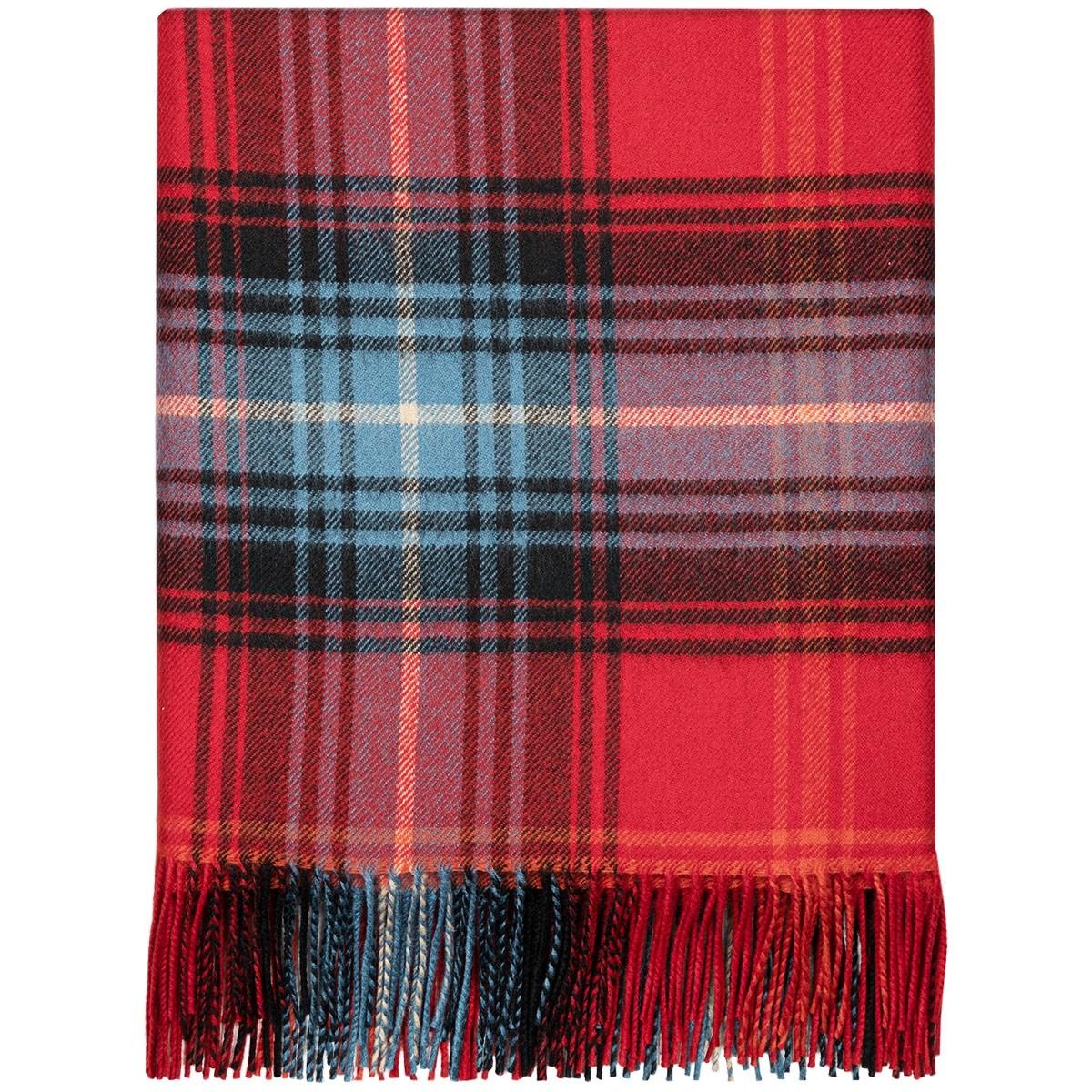 Lochcarron Ruby Tartan Lambswool Blanket