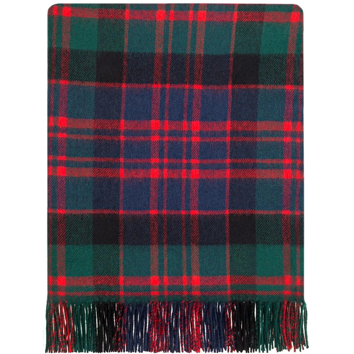 MacDonald Clan Modern Tartan Lambswool Blanket