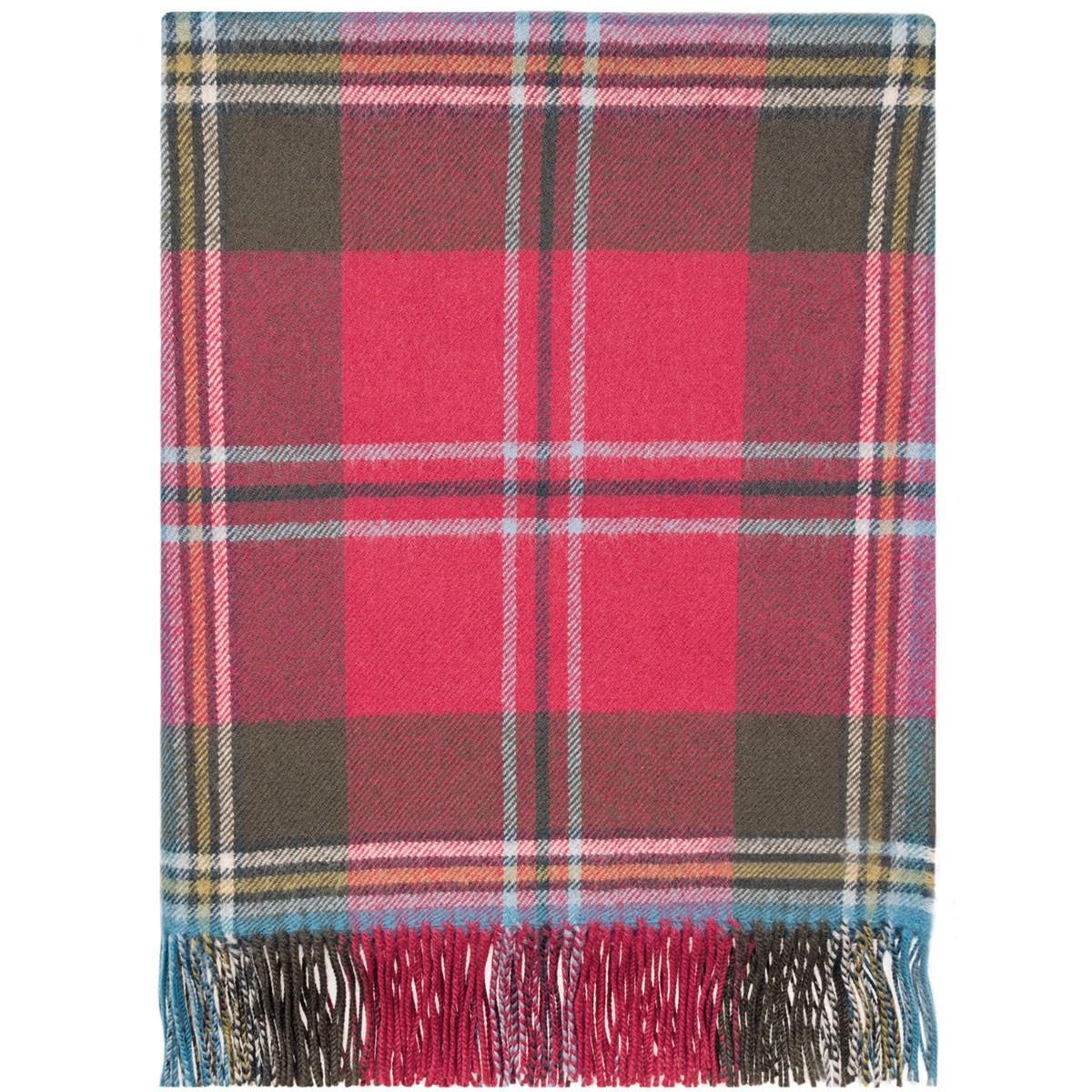 MacLean of Duart Weathered Tartan Lambswool Blanket