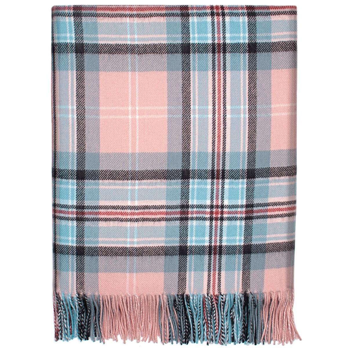 Diana, Princess of Wales Memorial Rose Tartan Lambswool Blanket