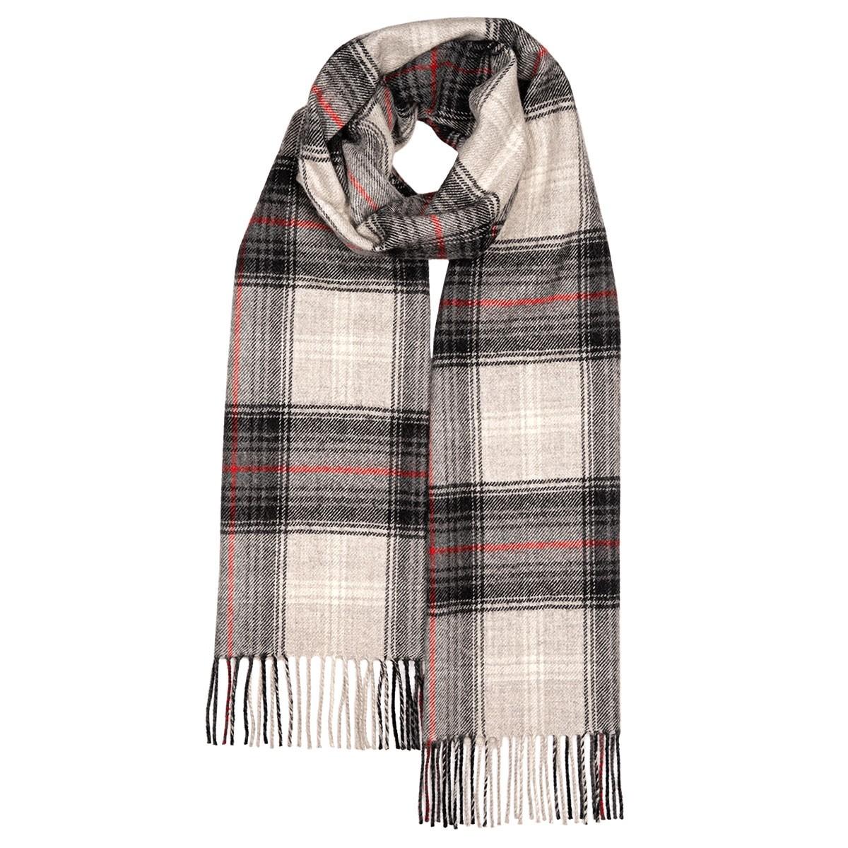 Darwin Lochcarron Graphite Luxury Oversized Lambswool Scarf