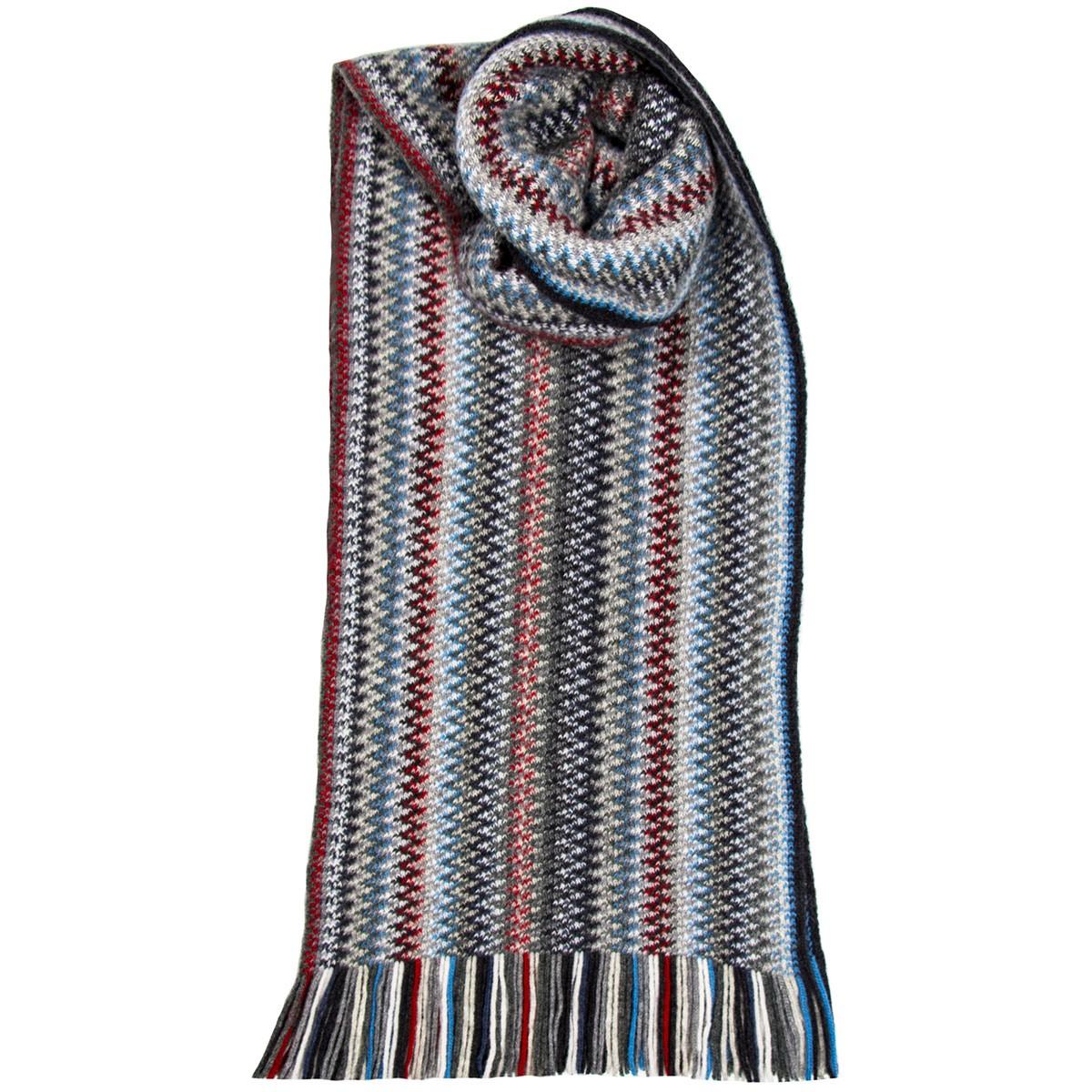 Arctic Zig Zag Wool/Angora Knitted Scarf
