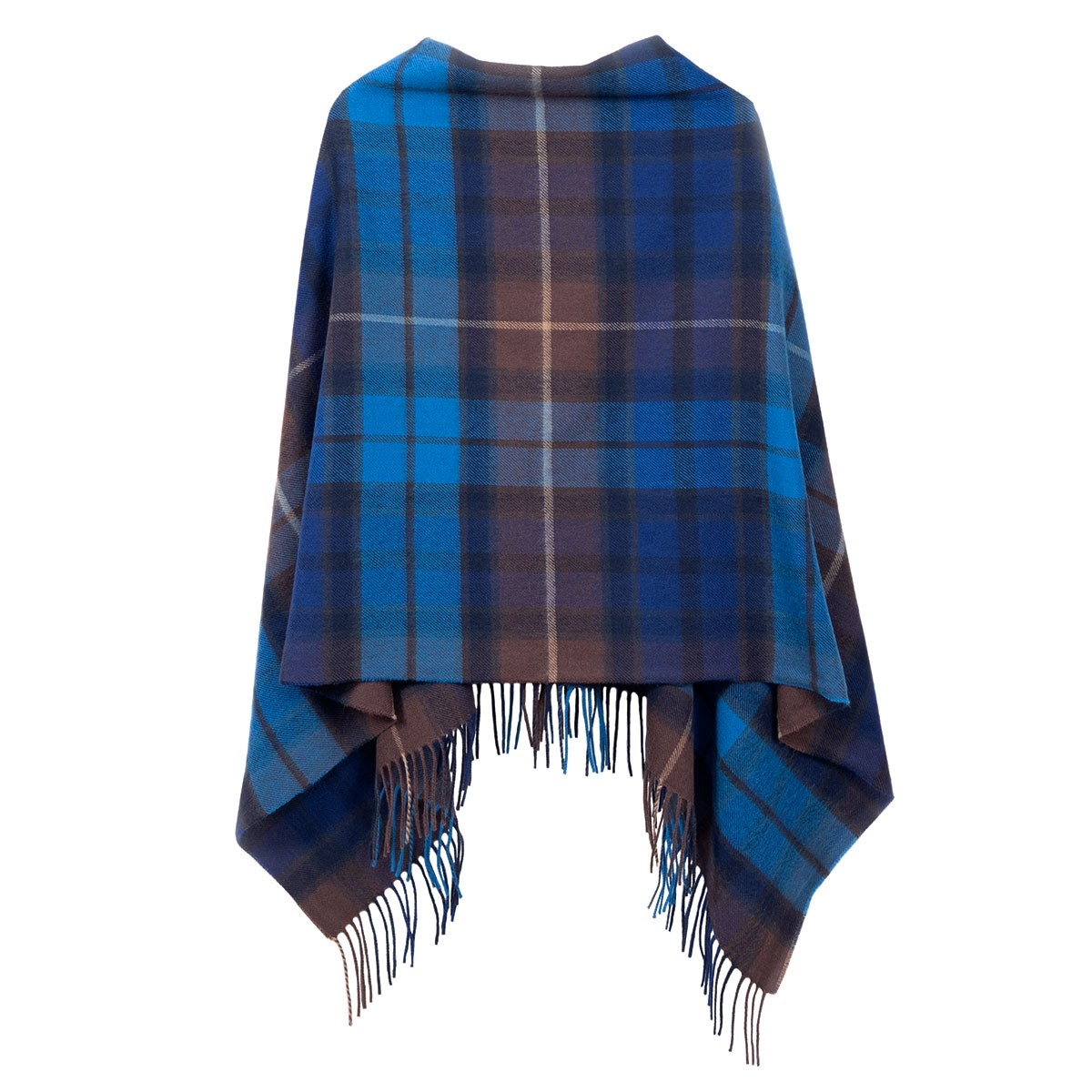 Georgia Buchanan Blue Lambswool Poncho