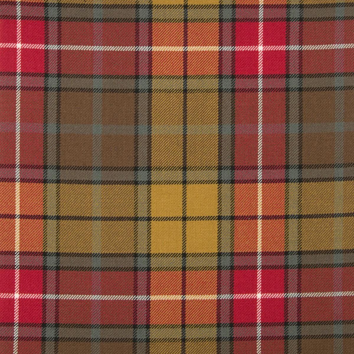 Buchanan Weathered Medium Weight Tartan Fabric-Front
