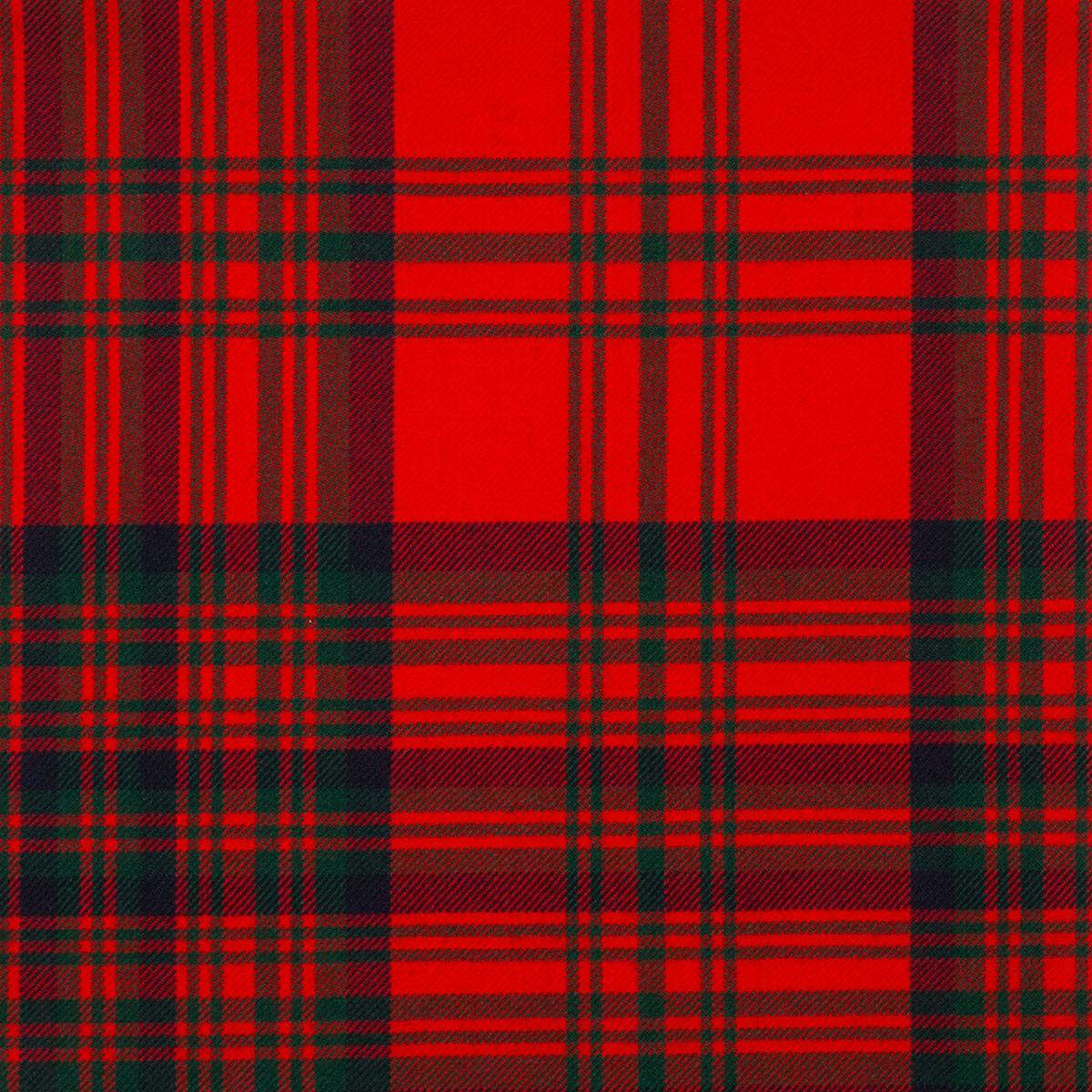 Matheson Red Modern Medium Weight Tartan Fabric-Front