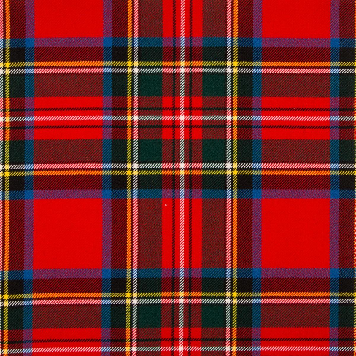 Stewart Royal Modern Medium Weight Tartan Fabric-Front