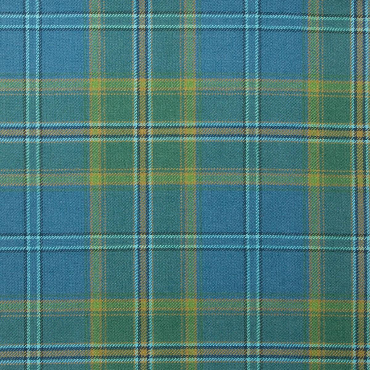All Ireland Blue Light Weight Tartan Fabric-Front