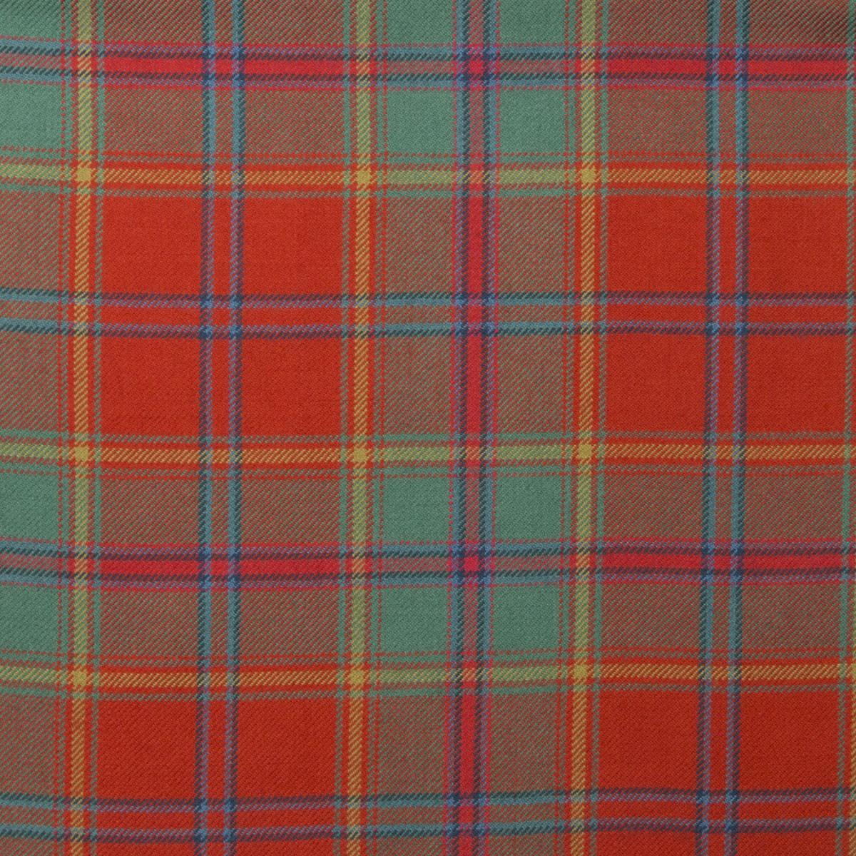 All Ireland Red Light Weight Tartan Fabric-Front