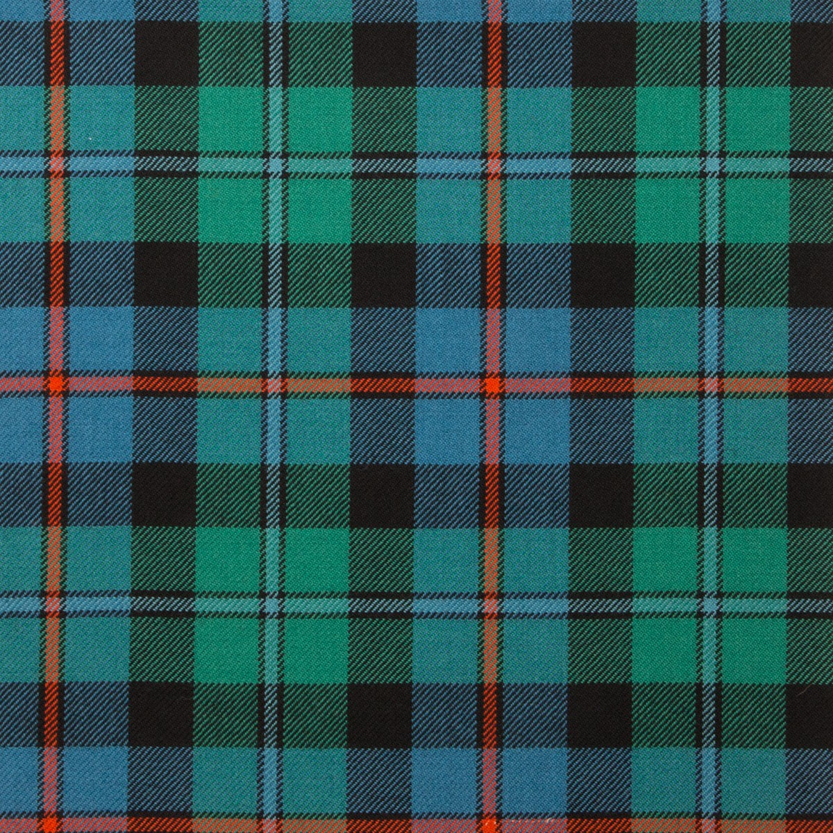 Campbell of Cawdor Ancient Light Weight Tartan Fabric-Front