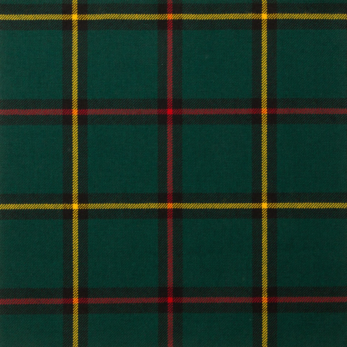 Marr Green Modern Light Weight Tartan Fabric-Front