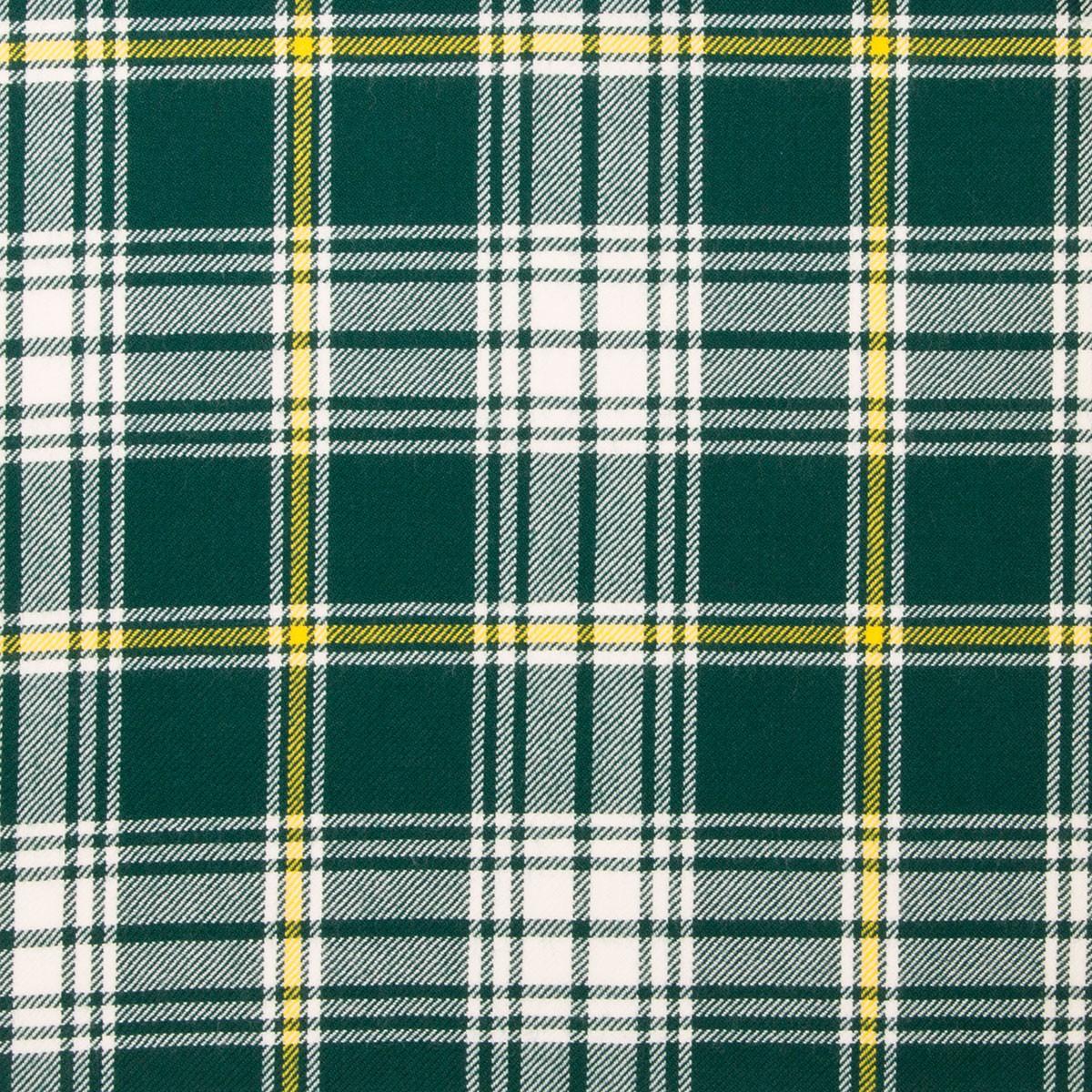 St Patrick Light Weight Tartan Fabric-Front