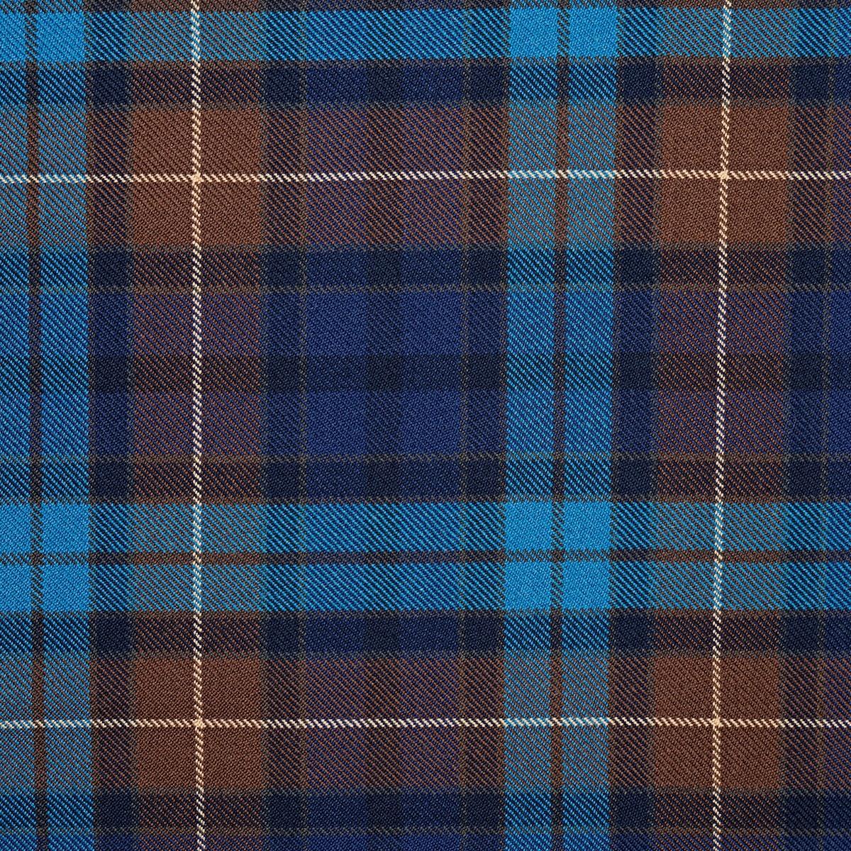 Buchanan Blue Heavy Weight Tartan Fabric-Front