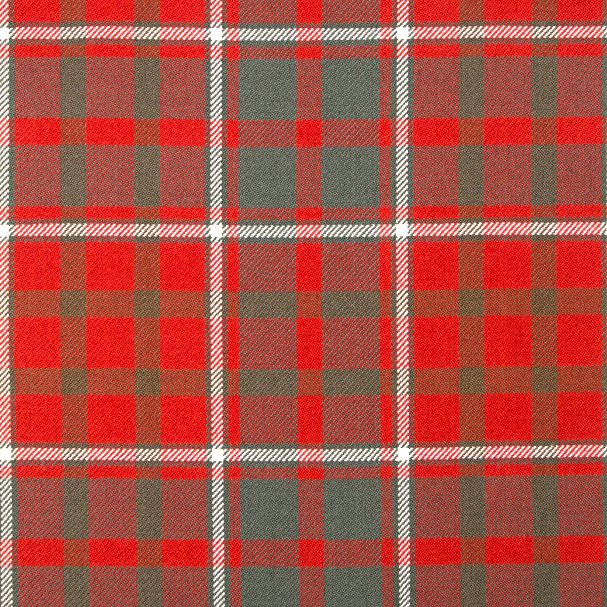 Cameron of Lochiel Weathered Heavy Weight Tartan Fabric-Front
