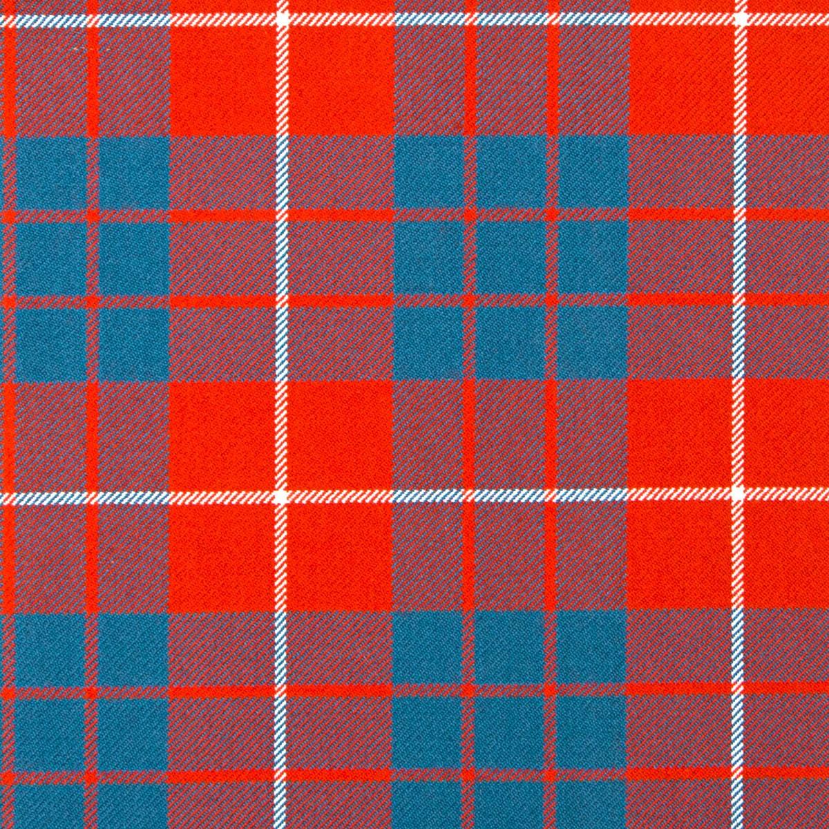 Hamilton Red Ancient Heavy Weight Tartan Fabric-Front