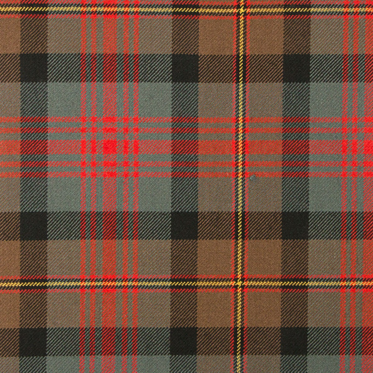 MacLennan Weathered Heavy Weight Tartan Fabric-Front
