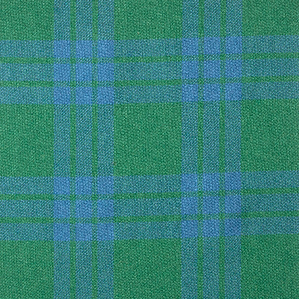 Montgomery Blue Ancient Heavy Weight Tartan Fabric-Front