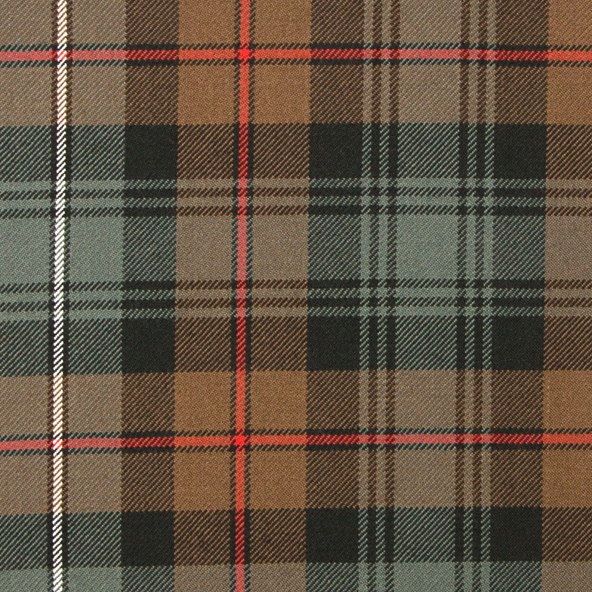 Robertson Hunting Weathered Heavy Weight Tartan Fabric-Front