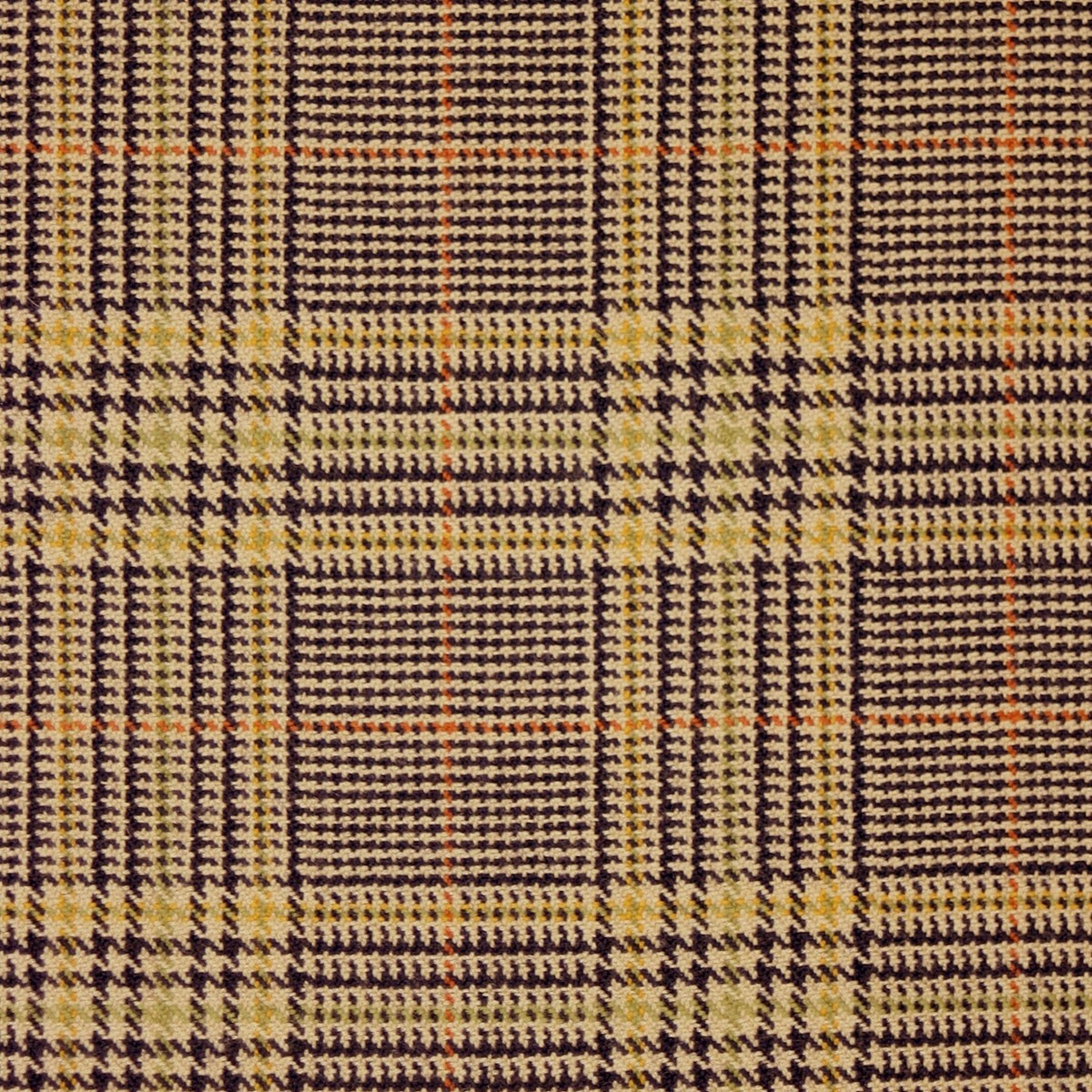 Eccles Check Tweed Light Weight Fabric-Front