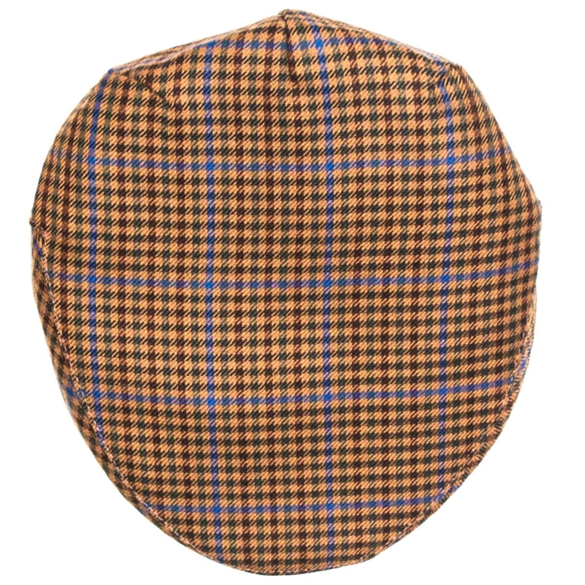 Kyle Check Tweed Barnton Flat Cap