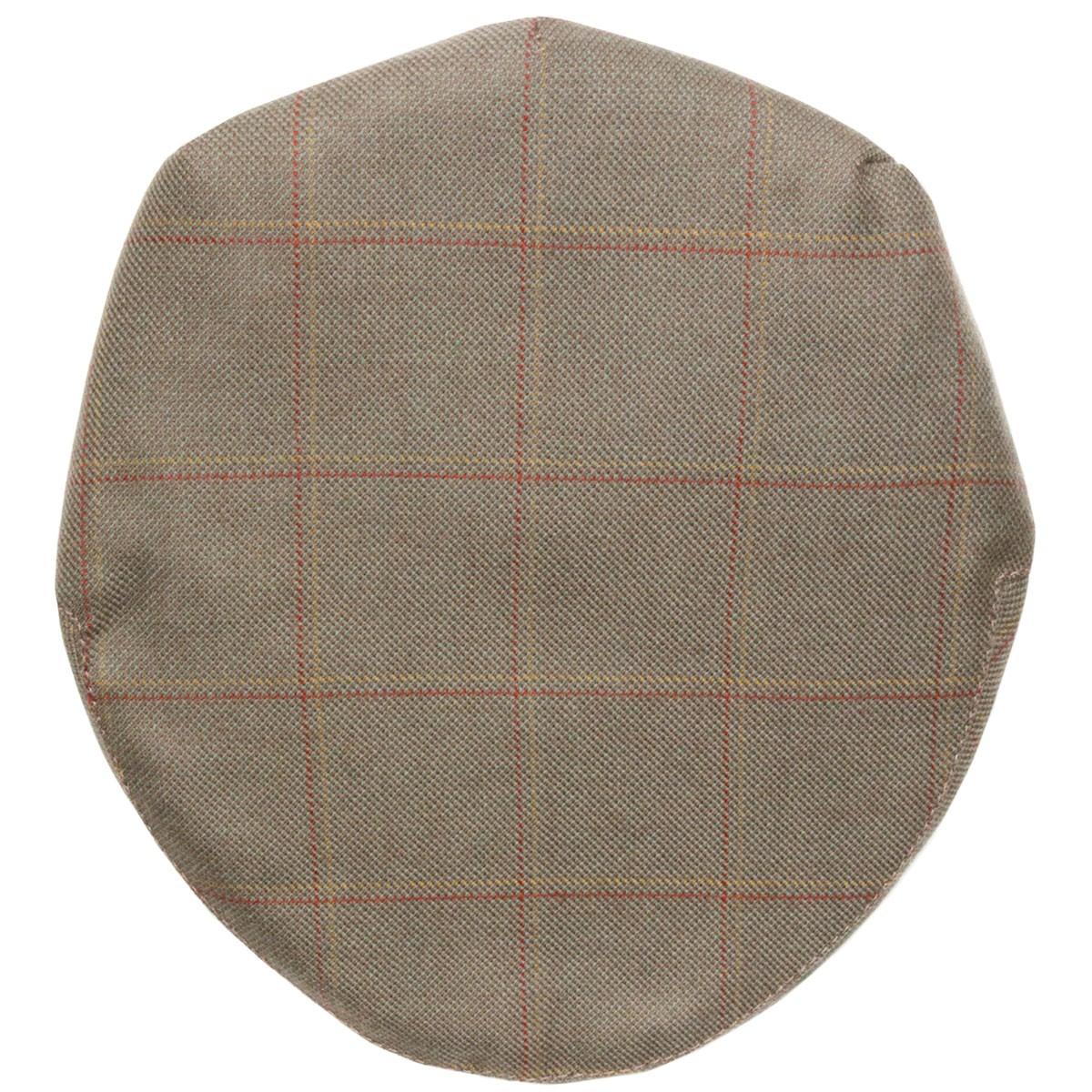 Oban Check Tweed Barnton Flat Cap - Above