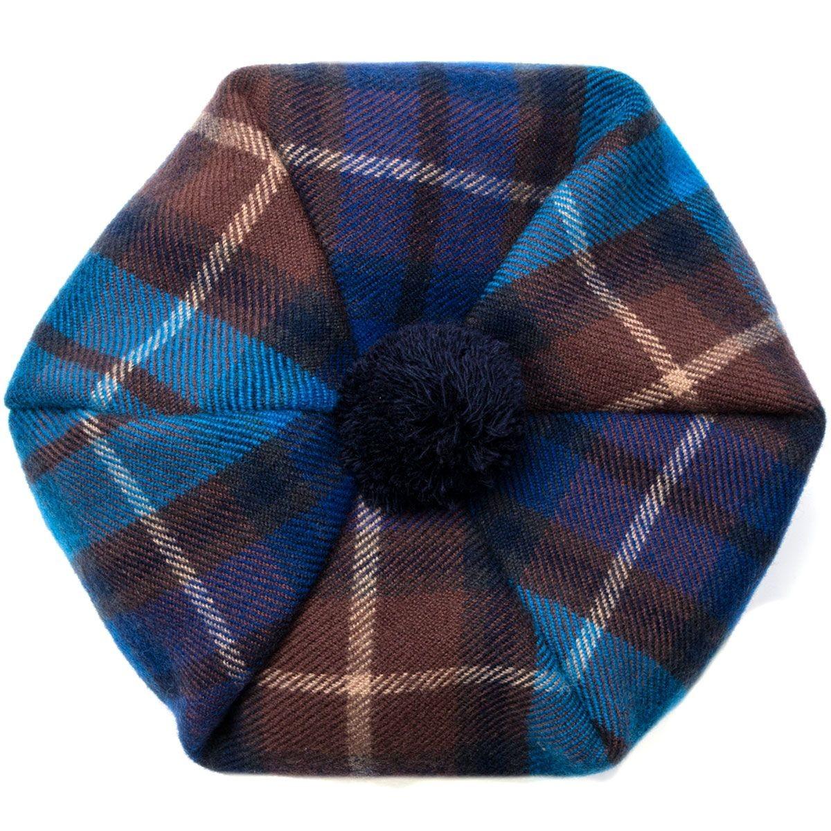 Buchanan Blue Brushed Wool Tam - Above