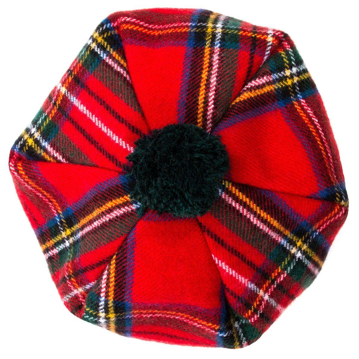 Royal Stewart Modern Tartan Brushed Wool Tam