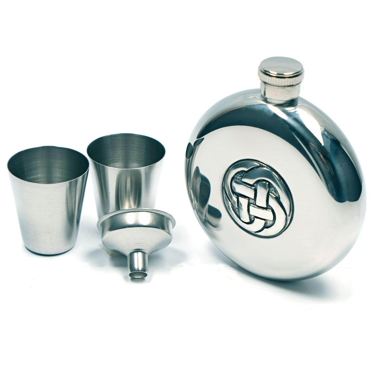 Hip Flask with Celtic Knot Design