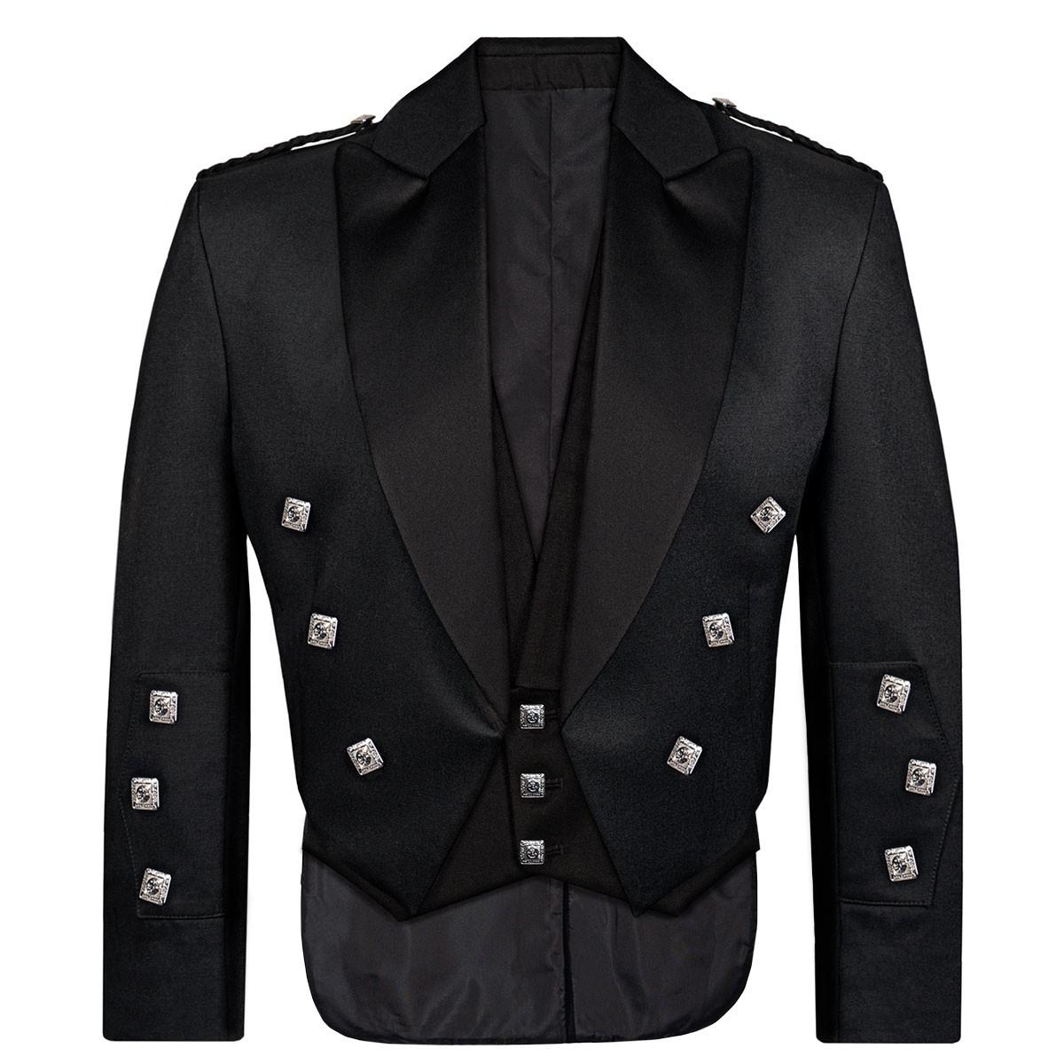 Barathea Heavyweight Fabric Prince Charlie Kilt Jacket & Vest