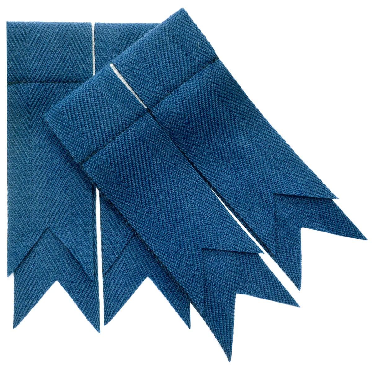 Blue Ancient Plain Coloured Garter Double Flashes