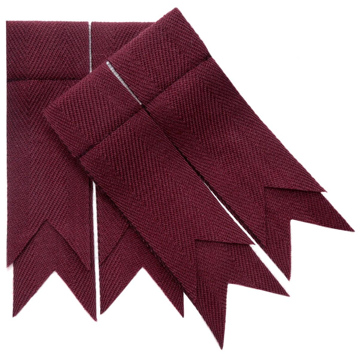 Maroon Plain Coloured Garter Double Flashes
