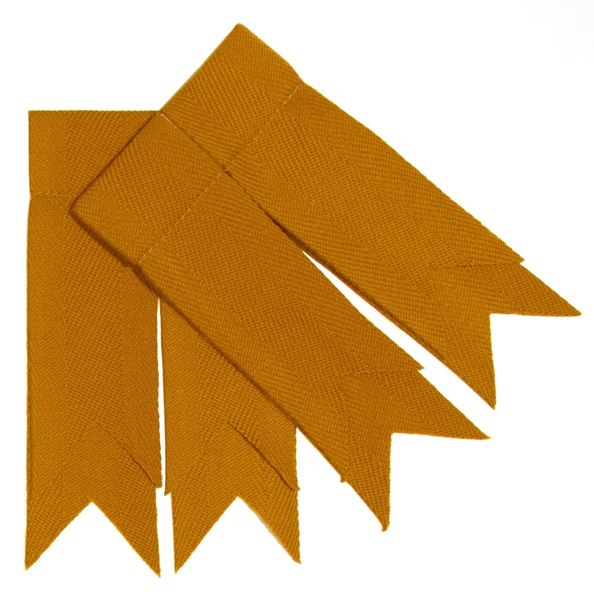 Gold Plain Coloured Garter Double Flashes