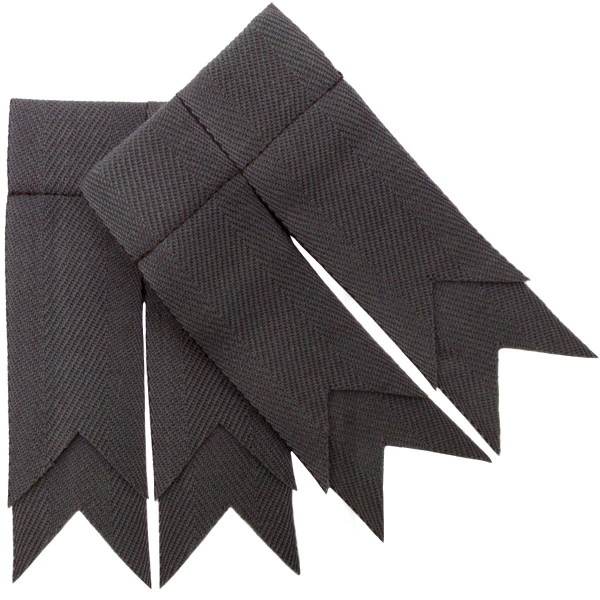 Stealth Grey Plain Coloured Garter Double Flashes